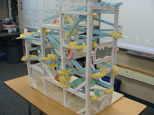 """Brain Teaser"""" built by students in Brian Packham's class at Anderson"""